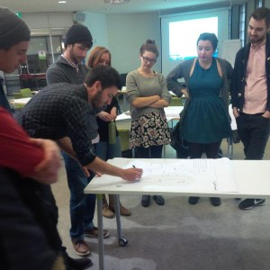One of THE very best parts of my job: teaching others to do what I do, in this case with UVic's Urban Development Club.