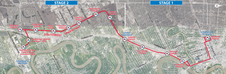 Winnipeg's Southwest Transitway (Source: Winnipeg Transit Southwest Transitway open house boards, May 2015)