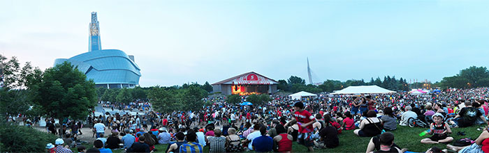 Canada Day event at Winnipeg's The Forks (Source: Tourism Winnipeg)