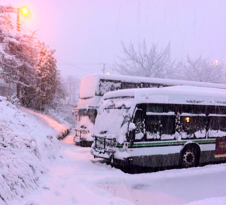 VTC Buses in Snow